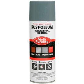Rust-Oleum Industrial 1600 General Purpose Enamel Aerosol, Ansi 49 Medium Lt GY, 12 oz. - 214646 - Pkg Qty 6