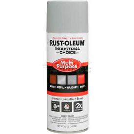 Rust-Oleum Industrial 1600 General Purpose Enamel Aerosol, Ansi 70 Light Gray, 12 oz. - 214647 - Pkg Qty 6