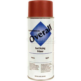 Rust-Oleum Overall Economical Enamel Aerosol, Red Primer, 10 oz. - 215405 - Pkg Qty 6