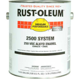 Rust-Oleum 2500 System <250 VOC DTM Alkyd Enamel Black Gallon Can - 215759 - Pkg Qty 2