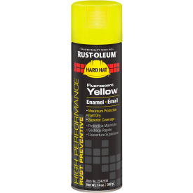 Rust-Oleum High Perform V2100 Rust Prevent Enamel Aerosol, Fluorescent Yellow, 14 oz. - 2242838 - Pkg Qty 6