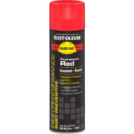Rust-Oleum High Performance V2100 Rust Prevent Enamel Aerosol, Fluorescent Red, 14 oz. - 2264838 - Pkg Qty 6