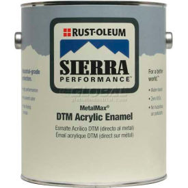 Rust-Oleum Sierra Performance Metalmax 0 VOC DTM Acrylic Enamel, Semi-Gloss WH Gallon Can - 238752 - Pkg Qty 2