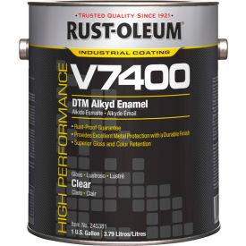 Rust-Oleum V7400 Series <340 VOC DTM Alkyd Enamel, Clear (Clear, Sele) Gallon Can - 245381 - Pkg Qty 2