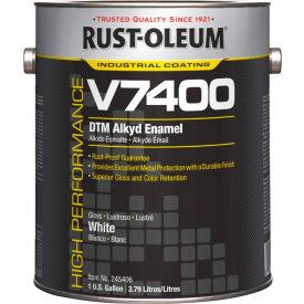 Rust-Oleum V7400 Series <340 VOC DTM Alkyd Enamel, High Gloss White Gallon Can - 245406 - Pkg Qty 2