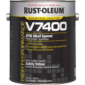 Rust-Oleum V7400 Series <340 VOC DTM Alkyd Enamel, Safety Yellow Gallon Can - 245479 - Pkg Qty 2