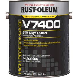 Rust-Oleum V7400 Series <340 VOC DTM Alkyd Enamel, Sg Light Neutral Gray Gallon Can - 245481 - Pkg Qty 2