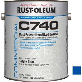 Rust-Oleum Comm C740 <400 VOC DTM Alkyd Enamel RustPrev Maint Paint, Gloss Safety BL Gal Can- 255548 - Pkg Qty 2