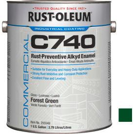 Rust-Oleum Comm. C740 <400 VOC DTM Alkyd Enamel Rust-Prev. Maint Paint, Gl. Frst Grn Gal Can- 255549 - Pkg Qty 2