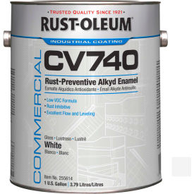 Rust-Oleum Comm. Cv740 <100 VOC DTM Alkyd Enamel Rust-Prev. Maint Paint, Gloss WH Gal Can - 255674 - Pkg Qty 2