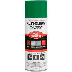 Rust-Oleum Industrial 1600 System Gen Purpose Enamel Aerosol, Emerald Green, 12 oz. - 257401 - Pkg Qty 6