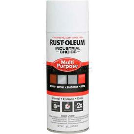 Rust-Oleum Industrial 1600 System Gen Purpose Enamel Aerosol, Semi-Gloss White, 12 oz. - 257402 - Pkg Qty 6