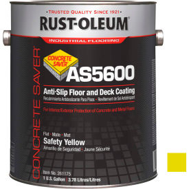 Rust-Oleum As5600 System Acrylic Anti-Slip Floor And Deck Coating, Safety Yellow Gallon Can - 261175 - Pkg Qty 2