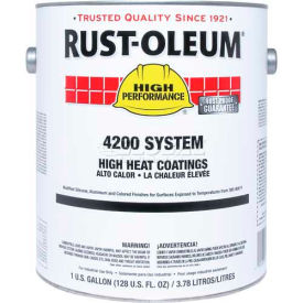 Rust-Oleum 4200/4300 System High Heat Coating, Black Quart Sized Can - 261968 - Pkg Qty 2