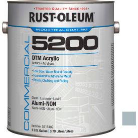Rust-Oleum 5200 System < 250 VOC DTM Acrylic, Alumi-Non Gallon Can - 5215402 - Pkg Qty 2