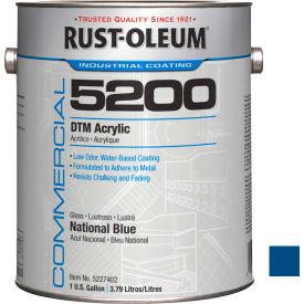 Rust-Oleum 5200 System < 250 VOC DTM Acrylic, National Blue Gallon Can - 5227402 - Pkg Qty 2