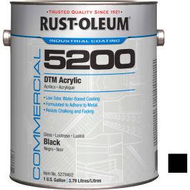 Rust-Oleum 5200 System <250 VOC DTM Acrylic, Gloss Black Gallon Can - 5279402 - Pkg Qty 2