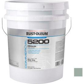 Rust-Oleum 5200 System < 250 VOC DTM Acrylic, Silver Gray, 5 Gallon Pail - 5282300