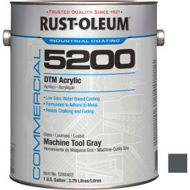 Rust-Oleum 5200 System < 250 VOC DTM Acrylic, Machine Tool Gray Gallon Can - 5288402 - Pkg Qty 2
