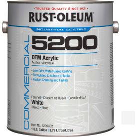 Rust-Oleum 5200 System < 250 VOC DTM Acrylic, Flat White Gallon Can - 5290402 - Pkg Qty 2