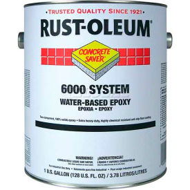 Rust-Oleum 6000 System <250 VOC Water-Based Epoxy Floor Coating, Clear Gallon Can - 6010408 - Pkg Qty 2