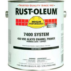 Rust-Oleum V7400 Series <450 VOC DTM Alkyd Enamel Primer, Red Shop Coat Gallon Can - 7069402 - Pkg Qty 2