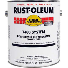 Rust-Oleum V7500 Series <450 VOC DTM Alkyd Enamel, Yellow (New Caterpillar) Gallon Can - 7447402 - Pkg Qty 2