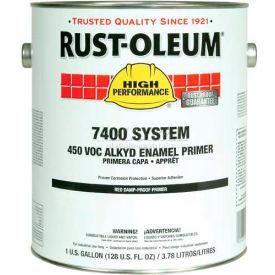 Rust-Oleum V7400 Series <450 VOC DTM Alkyd Enamel Primer, Damp-Proof Red Gallon Can - 769402 - Pkg Qty 2