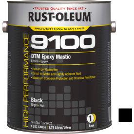 Rust-Oleum 9100 System <340 VOC DTM Epoxy Mastic, Black Gallon Can - 9179402 - Pkg Qty 2