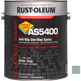Rust-Oleum As5400 System <340 VOC AntiSlip One-Step Epoxy Floor Coat, Silver Gray Gal Can- AS5482402 - Pkg Qty 2