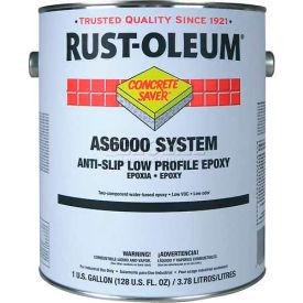 Rust-Oleum AS6000 System <100 VOC Anti-Slip Low Profile Epoxy Floor Coat, Silver Gal Kit - AS6082425