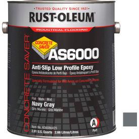 Rust-Oleum AS6000 System <100 VOC Anti-Slip Low Profile Epoxy Floor Coat, Navy Gal Kit - AS6086425