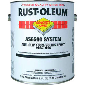 Rust-Oleum 6500 System <100 VOC 100% Solids Epoxy Floor Coating, Tile Red Gallon Can S6568413 - Pkg Qty 2