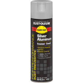 Rust-Oleum High Performance V2100 Rust Preventive Enamel Aerosol, Silver Alum, 14 oz. - V2115838 - Pkg Qty 6