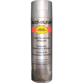 Rust-Oleum High Performance V2100 System Galvanizing Compound Aerosol, Bright 20 oz. Can - V2117838 - Pkg Qty 6