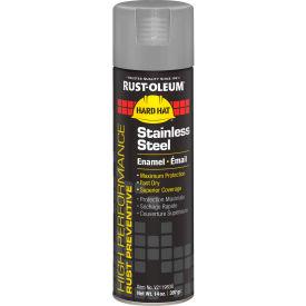 Rust-Oleum High Performance V2100 Rust Prevent Enamel Aerosol, Stainless Steel, 14 oz. - V2119838 - Pkg Qty 6