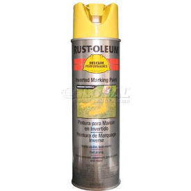Rust-Oleum V2300 System Inverted Marking Paint Aerosol, High Visibility Yellow - Pkg Qty 6