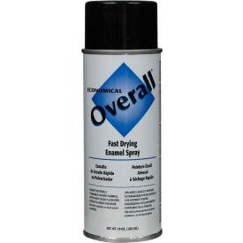 Rust-Oleum Black Overall Economical Enamel Aerosol, 16 oz. Aerosol Can - V2402830 - Pkg Qty 6