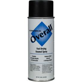 Rust-Oleum Flat Black Overall Economical Enamel Aerosol, 16 oz. Aerosol Can - V2404830 - Pkg Qty 6