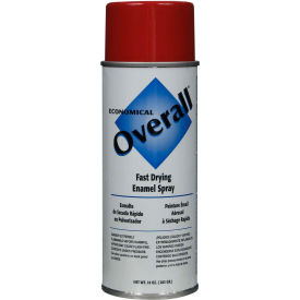 Rust-Oleum Red Overall Economical Enamel Aerosol, 16 oz. Aerosol Can - V2407830 - Pkg Qty 6
