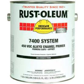 Rust-Oleum V7400 Series <450 VOC DTM Alkyd Enamel Primer, Zinc Chromate Red Gallon Can - X0060402 - Pkg Qty 2