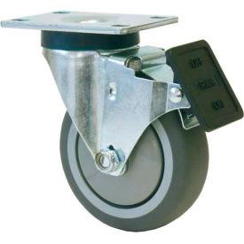 "RWM Casters VersaTrac® 3"" Urethane Polypropylene Swivel Caster with Total Lock Brake"