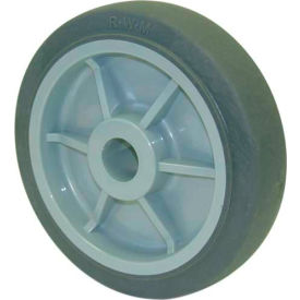 "RWM Casters 8"" x 2"" Performance TPR Wheel with Roller Bearing for 1/2"" Axle - RPR-0820-08"