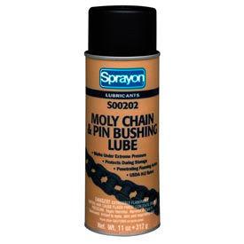 Sprayon LU202 Moly Chain Lubricant, 11 oz. Aerosol Can - s00202000 - Pkg Qty 12