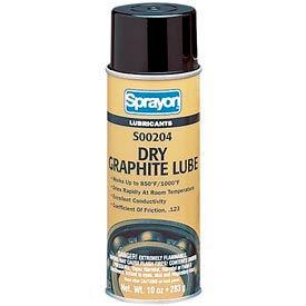 Sprayon LU204 Dry Film Graphite Lubricant, 10 oz. Aerosol Can - s00204000 - Pkg Qty 12