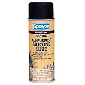 Sprayon LU206 All-Purpose Silicone Lubricant, 10 oz. Aerosol Can - SC0206000 - Pkg Qty 12