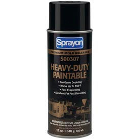 Sprayon MR307 Heavy Duty Paintable Release Agent, 12 oz. Aerosol Can - s00307000 - Pkg Qty 12