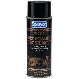 Sprayon MR312 Dry Zinc Stearate Release Agent, 12 oz. Aerosol Can - s00312000 - Pkg Qty 12
