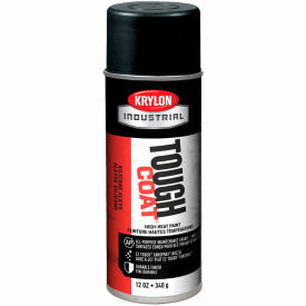 Krylon Industrial Tough Coat High-Heat Paint Black - A00332007 - Pkg Qty 12