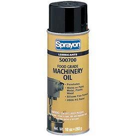 Sprayon LU701 Food Grade Machinery Oil, 10 oz. Aerosol Can - s00700000 - Pkg Qty 12